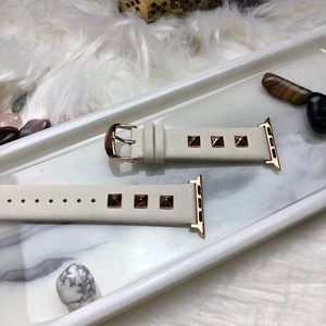 Accessories - 38/40mm Leather Band W/Rose gold Studs iWatch